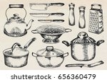 kitchenware set. beautiful... | Shutterstock .eps vector #656360479