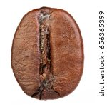 coffee bean isolated on white... | Shutterstock . vector #656365399