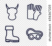 protective icons set. set of 4... | Shutterstock .eps vector #656367205