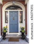 front blue door | Shutterstock . vector #656374351