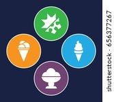 Frozen Icons Set. Set Of 4...