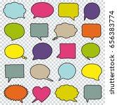 blank empty hand drawn speech... | Shutterstock .eps vector #656383774