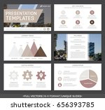 set of brown elements for... | Shutterstock .eps vector #656393785
