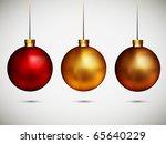 shiny christmas balls  ...   Shutterstock . vector #65640229