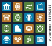 classic icons set. set of 16... | Shutterstock .eps vector #656403595