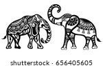 elephants | Shutterstock .eps vector #656405605