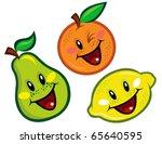 happy fruit characters | Shutterstock .eps vector #65640595