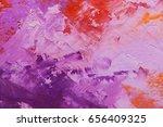abstract oil paint texture on...   Shutterstock . vector #656409325