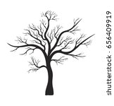 bare tree silhouette vector... | Shutterstock .eps vector #656409919