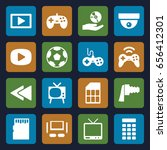 video icons set. set of 16... | Shutterstock .eps vector #656412301