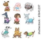 cartoon dog | Shutterstock .eps vector #65641237