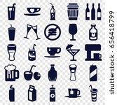 beverage icons set. set of 25...   Shutterstock .eps vector #656418799