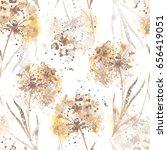 Imprints Dry Flowers Seamless...