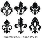 set of royal lily   Shutterstock .eps vector #656419711