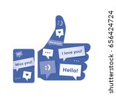 thumbs up social networking...   Shutterstock .eps vector #656424724