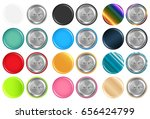 set of real colorful rounded... | Shutterstock .eps vector #656424799