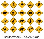 set of animal sign. symbol ... | Shutterstock .eps vector #656427505