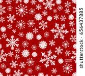christmas pattern made of... | Shutterstock .eps vector #656437885