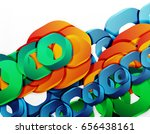 geometric abstract background ... | Shutterstock .eps vector #656438161