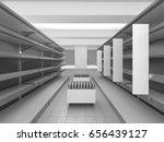 empty supermarket set of...   Shutterstock . vector #656439127