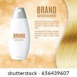 premium shampoo ads. realistic... | Shutterstock .eps vector #656439607