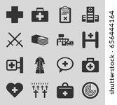 cross icons set. set of 16... | Shutterstock .eps vector #656444164