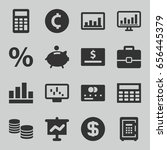 finance icons set. set of 16... | Shutterstock .eps vector #656445379