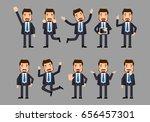flat set   businesspeople | Shutterstock .eps vector #656457301