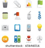 10 Office Icons Professional vector set for your website, application, or presentation. The graphics can easily be edited color individually and be scaled to any size - stock vector
