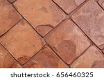 orange brick walkway | Shutterstock . vector #656460325