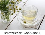 chamomile tea | Shutterstock . vector #656460541
