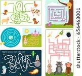 labyrinth maze conundrum shape...   Shutterstock .eps vector #656463001