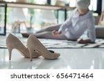 stilettos and senior... | Shutterstock . vector #656471464