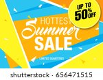summer sale template banner ... | Shutterstock .eps vector #656471515