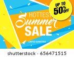 summer sale template banner ... | Shutterstock .eps vector #656471515