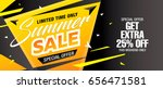 summer sale template banner ... | Shutterstock .eps vector #656471581