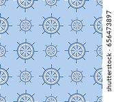 ship helm seamless pattern...   Shutterstock .eps vector #656473897