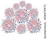 red and blue fireworks isolated ... | Shutterstock .eps vector #656474971