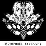 vector hand drawn illustration... | Shutterstock .eps vector #656477341