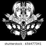 vector hand drawn illustration... | Shutterstock .eps vector #656477341