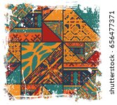 abstract african pattern...   Shutterstock .eps vector #656477371