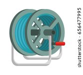hose rolled up   Shutterstock .eps vector #656477995