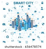 smart city concept with... | Shutterstock .eps vector #656478574