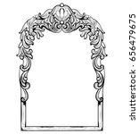 vintage imperial baroque mirror ... | Shutterstock .eps vector #656479675