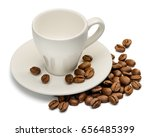 coffee cup and coffee beans on...   Shutterstock . vector #656485399