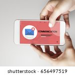 message letter e mail chat... | Shutterstock . vector #656497519