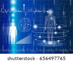 science and cloning abstract... | Shutterstock .eps vector #656497765