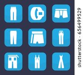 pants icon. set of 9 filled... | Shutterstock .eps vector #656499529