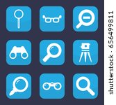 optical icon. set of 9 filled... | Shutterstock .eps vector #656499811