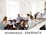 young business colleagues... | Shutterstock . vector #656504674